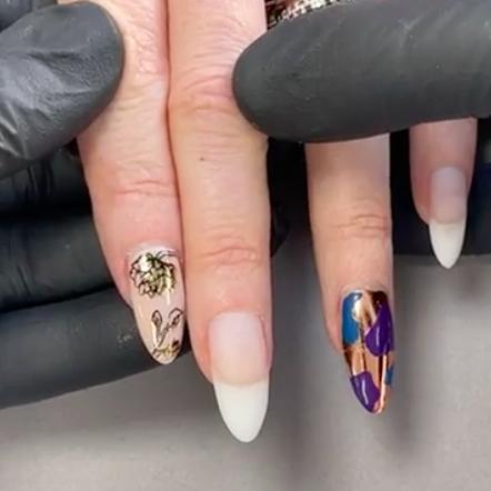 Floral Foil Nail Art Using CND™ Shellac